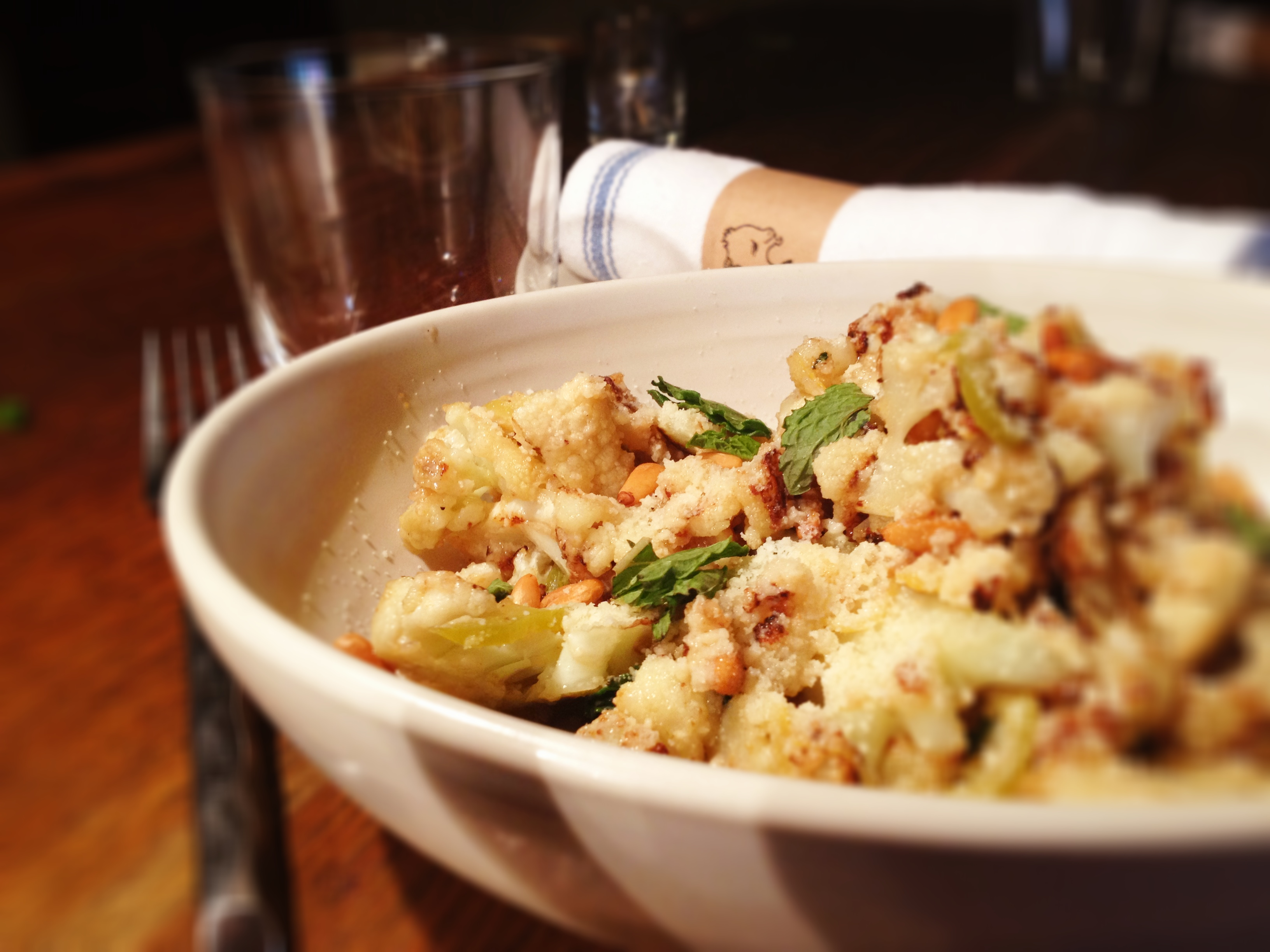 Butter Roasted Cauliflower Recipe — Dishmaps
