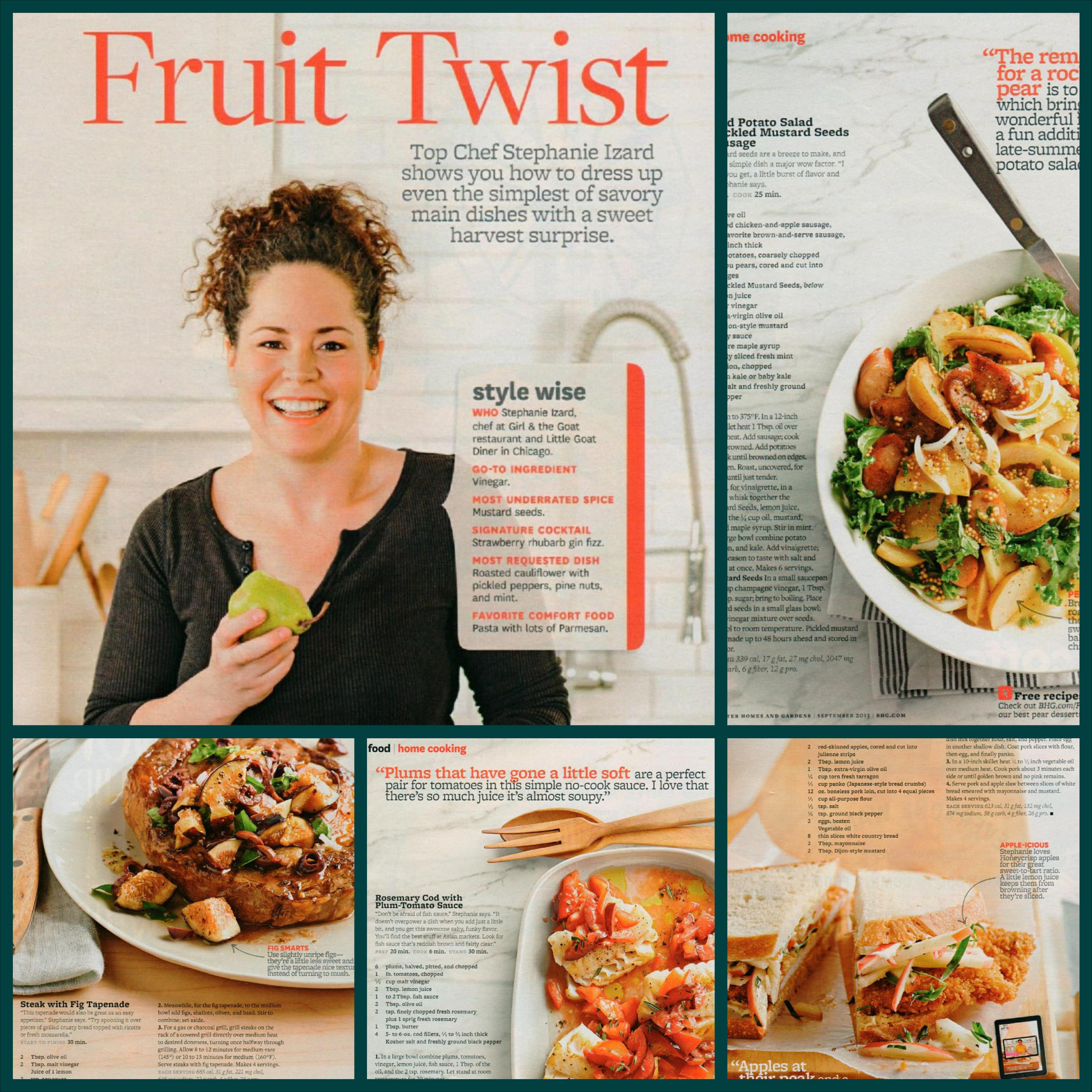 Better Homes and Gardens Stephanie Izard
